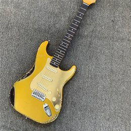 Stock Mirrors Australia - In stock, yellow mirror shield retro electric guitar, relic electric guitar, give friends gifts. Free shipping.