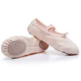 women canvas dance shoes NZ - Yoga Flats Gym Ballerina Ballet Dance Shoes School Girls Women Ladies Female Canvas Kids Children Performance Big Size22-44 Soft Sneakers