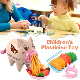 Kitchen Puzzle Australia - Children's Plasticine Mold Pig Color Mud Pasta Machine Puzzle Non-toxic 3D Plasticine Tool Set Play House Kitchen Type Clay Toy