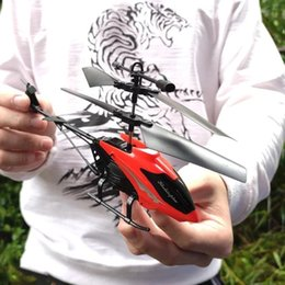 Wholesale 2019 New Flying Aircraft Sensor Helicopter Induction Glowing Toy for Children Kids Remote Control