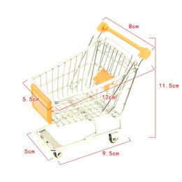 Trolley Toys Australia - High Quality Cute Mini Supermarket Handcart Trolley Shopping Utility Cart Phone Holder Office Desk Storage Toy Cart Baby