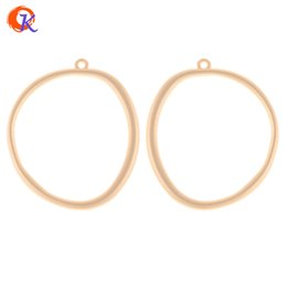 0f95bc53e wholesale 50Pcs 34*40MM Jewelry Accessories Earring Connectors Matte Gold  Irregular Ring Shape Hand Made Earring Findings