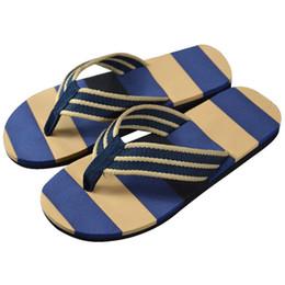 $enCountryForm.capitalKeyWord Australia - Hot Selling New Arrival Leisurely Men Summer Stripe Flip Flops Shoes Sandals Candy Color Male Slipper Flip-flops