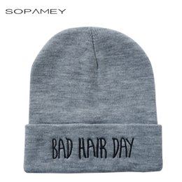 $enCountryForm.capitalKeyWord Australia - New Brand Winter Unisex Hat Solid Color Cotton Knitted Keep Warm Men Woman Cap Beanie Spring Autumn Adult Letter Pattern Hats