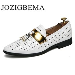 $enCountryForm.capitalKeyWord Australia - Summer Breather Hollow Out Formal Shoes White Dress Wedding Shoes Tassels Oxford For Men Dress Business Loafers