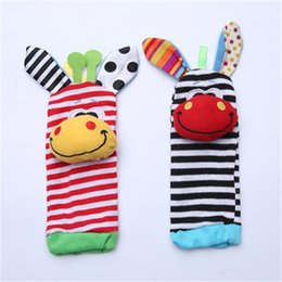 $enCountryForm.capitalKeyWord Australia - Infant Soft Toy Baby Socks Wristand Newest Wrist Rattles Hands Foots Finders Baby Cute Enducation Development Toys Hand Bell