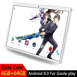 google play cards 2019 - 2.5D Tempered Glass Screen 10.1 inch Tablet PC For Google Play Octa Core Phone SIM Card WIFI GPS RAM 6GB 64GB Tablet And