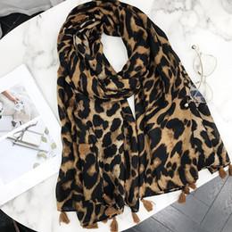cotton hijab scarf design 2019 - 2018 New Design Leopard Dot Tassel Viscose Shawl Scarf Print High Quality Neckerchief Autumn Winter Foulards Muslim Hija