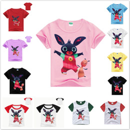 $enCountryForm.capitalKeyWord Australia - Summer Children Toddler Cartoon Bing Bunny Funny Rabbit Short Sleeve T Shirt Baby Boys Clothes Girl Cute Tops Kid Casual Clothes