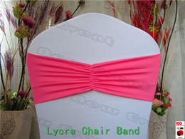 $enCountryForm.capitalKeyWord Australia - 2 2---100pcs Ruffled Spandex Bands Lycra Band Expand Bands spandex chair  Chair cover For Wedding & Banquet Decoration