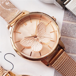 Figures Australia - 2019 new trend beautiful butterfly figure ladies watch with stylish casual affordable fine stainless steel watch