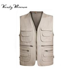 Vest photography online shopping - 2018 New Brand Male Vest Men Colete Masculino Casual Mesh Waistcoat Plus Size XL Loose Multi pockets Photography Vest Male