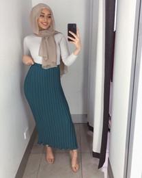 $enCountryForm.capitalKeyWord Australia - Fashion Women's Pleated Skirt Chiffon Long Skirt Princess Elegant Modest Muslim Bottoms Ankle-length Party Islamic Clothing Y19060301