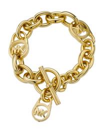$enCountryForm.capitalKeyWord Australia - Wholesales Women's Lock Bracelets 925 Sterling Silver Gold Plated Pendants Charm Bracelets Bangle Jewelry For Men Women B006