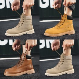 ostrich leather shoes men 2019 - Hot Ins Winter Mens Work Shoes Cowboy Warm Work & Safety Boots Gradual Change Half Lattice Leisure Boys Sneaker Size 40-