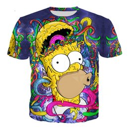 365f755f New Fashion Women Men Cartoon The Simpsons Summer Short Sleeves Funny 3D  Print T-shirt Casual Top K120