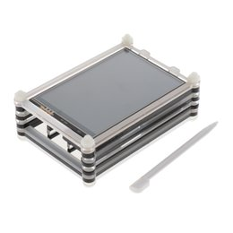 tft lcd touch screen module UK - 3.5'' Touch Screen TFT LCD Panel Module Shield 320*480&Case For Raspberry Pi
