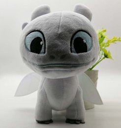 doll toy glasses Australia - How To Train Your Dragon 3 Plush Toy Light Fury Soft White Dragon Stuffed Doll Gift Y19070103