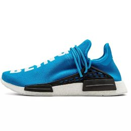 trail trainers UK - Human RACE HU Pharrell Williams Trail Mens Designer Sports neutral spikes Running Shoes for Men Sneakers Women Casual Trainers