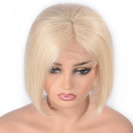 $enCountryForm.capitalKeyWord NZ - Wholesale new arrival best grade unprocessed virgin remy human hair short bob #613 silky straight full front lace cap wig for women