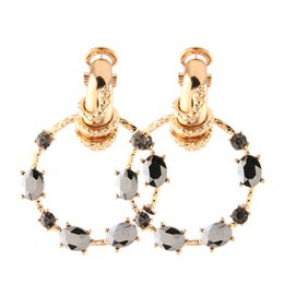 $enCountryForm.capitalKeyWord UK - Brandjewelryyy solid glass bright color rhinestone zinc alloy bright half finger ring earring pendant large long ladies big earrings