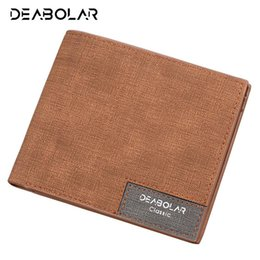$enCountryForm.capitalKeyWord Australia - Wholesale- Hot Promotion!! DEABOLAR Brand 2017 Vintage Man Wallet Male Slim Leather Wallets Thin Money Dollar Card Holder Purses for Men