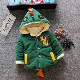 Parkas Outdoors Australia - 2019 Winter Infant Coats Baby Girl Boy Coats Thicken Plush Children Jacket Hooded Cartoon Outdoor Windproof Kid Child Parkas