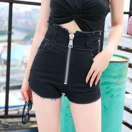 $enCountryForm.capitalKeyWord Australia - Denim Shorts Women 2019 Fashion Ladies High Waist Summer Short Jeans Sexy Mini Booty Shorts Woman Black hot pants