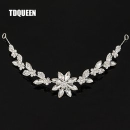 hair vine crystal Australia - crown wedding Bridal Rhinestone Crystal Vine Tiara Crown Wedding Comb Hair Chain Headpiece Floral Headband Hair Ornaments for Women
