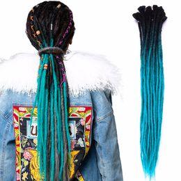 99j Hair Extensions 24 Australia - 5 Strands Kanekalon Dreadlocks 24 inch Grey Ombre Crochet Braids Synthetic Crochet Hair Extensions 25 Colors Available