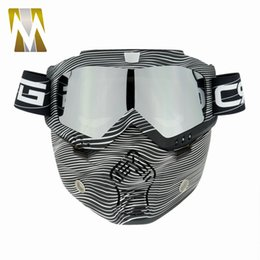 Sand motorcycleS online shopping - Mask Flexible Mask Goggles Detachable Mouth Filter Anti Dust Sand Wind for Open Face Motorcycle Half Helmet or Vintage Helmets