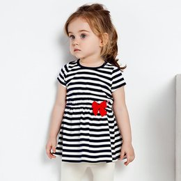 Tutu Sizes For Kids Australia - Baby children designer clothes Kids dresses girls Summer costumes for girl striped dresses baby clothing Made In China Mixed Sizes Wholesale