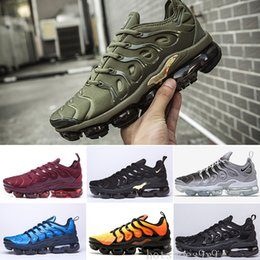 running shoes run Canada - 2019 TN PLUS Running Shoes For Men Women Black Speed Red White Anthracite Ultra White Black 2019 Best Designers Sneakers HA-DSW