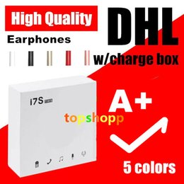 Großhandel Hochwertige I7 I7S TWS Bluetooth Ohrhörer Zwillinge Kopfhörer Kopfhörer für Android Samsung Smartphone mit Ladekasten DHL