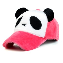 6dded1f4a1f Winter hat cartoon panda cartoon panda size with the same baseball cap  manufacturers direct winter hats