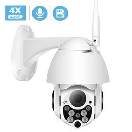outdoor ptz dome camera waterproof NZ - BESDER 3.6mm Lens 1080P Cloud Storage Wireless PTZ IP Camera 4X Digital Zoom Speed Dome Camera Outdoor WIFI Audio P2P CCTV Surveillance