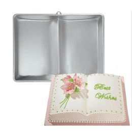 $enCountryForm.capitalKeyWord Australia - Book Shape aluminum Cake Baking Pan Mold Baking Supplies for Cakes Tools Metal Birthday Wedding Xmas Cake Mould KO990664