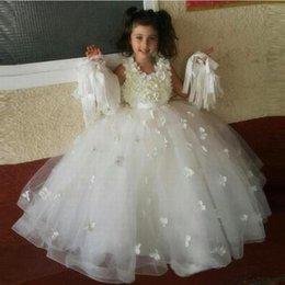$enCountryForm.capitalKeyWord Australia - Girl Ball Gown Tulle Flower Girl Dresses Kids Wedding Party Bridesmaid Children Dress Formal Dress GHYTZ338