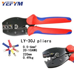 Awg connector online shopping - YEFYM LY J crimping tools pliers for AWG mm2 of Insulated Car Auto Terminals Connectors Crimping Plier wire