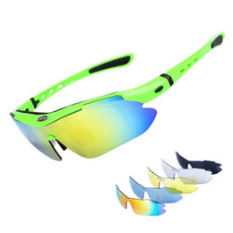 e6a6e291da 5 Lens UV400 Polarized Outdoor Sunglasses Sports Men Women Bike Bicycle  Cycling Glasses Eyewear Mtb Sport Goggles