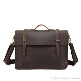 $enCountryForm.capitalKeyWord UK - Briefcase Men S Bag Cowhide Leather Backpack More Pocket Top Quality Purse Designer Handbags Portable Genuine Leather Travel Bags