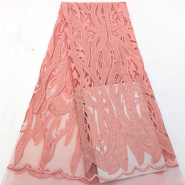 Wholesale swiss voile lace nigeria resale online - VILLIEA Best Quality African Lace Fabric Peach Swiss Voile Lace High Quality Embroidery French Mesh Nigeria Lace Fabric