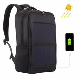 $enCountryForm.capitalKeyWord Australia - HAWEEL 14W Solar Panel Power Backpack Laptop Bag with Handle and 5V   2.1A Max Dual USB Charging Port