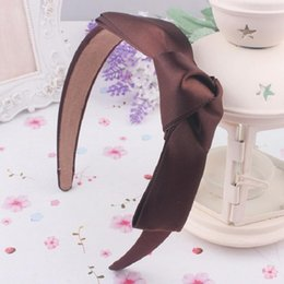 $enCountryForm.capitalKeyWord Australia - Fashion Korean Women Lady Girls Bowknot Ribbon Bow Knot Wide Bow Headband Clip Hairband Hair Band Accessories 8 colors