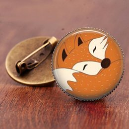 $enCountryForm.capitalKeyWord Australia - Vintage Jewelry High Quality galss dome Anime brooch pins Fox brooches for women 2019 Factory Fast Delivery Gifts
