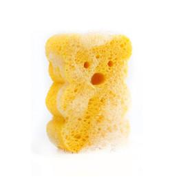 Sponge Balls UK - Baby bath sponge cotton bath towel bath ball wipe child shampoo brush artifact Cartoon duck Cute shape