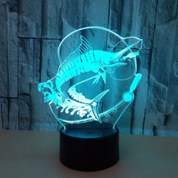 $enCountryForm.capitalKeyWord Australia - New Pattern Go Fishing 3 Colorful 3d Small Night-light Carp Remote Control Touch Switch 3d Lamp Colorful Touch Small Desk Lamp
