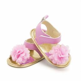 $enCountryForm.capitalKeyWord NZ - Infant Baby Girls Beach Sandals Fashion Summer Shoe Simple Floral Hook&Loop Newborn Girl Princess Shoes Toddler Single Sneakers