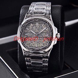 Vintage Mechanical Watch Movement NZ - Hot Swiss brand men's vintage engraving watch with imported automatic mechanical movement, 316 stainless steel case, diameter 40mm, sapphire