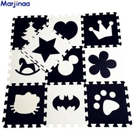 play blocks NZ - EVA Children's soft developing crawling rugs,baby play Block Batman letter Mickey foam mat Black White pad floor for baby games T191111